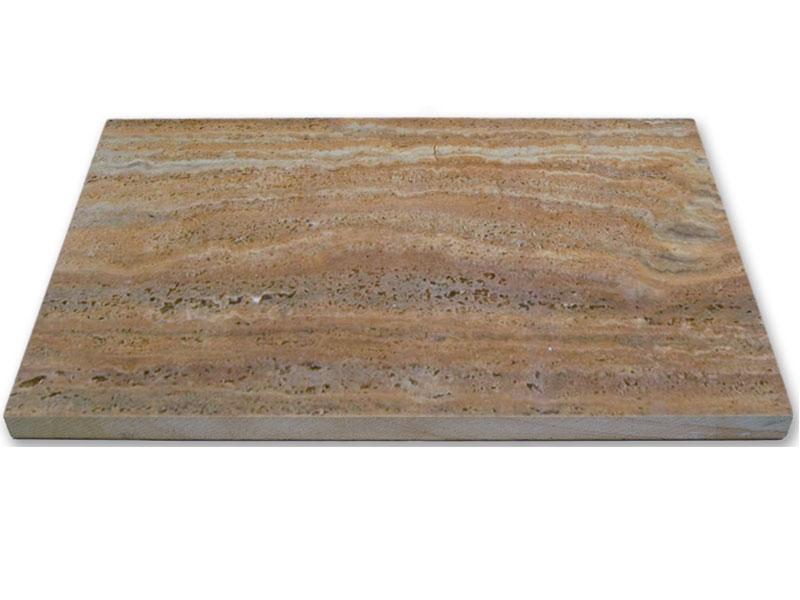 Terrassenplatte Kalkstein Limetto Geschliffen Und Geburstet Stolz