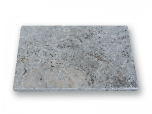 Natursteinplatte aus Travertin, Silver-Blue