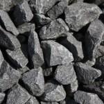 Basalt, anthrazit-schwarz