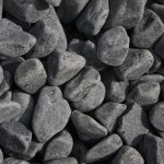 Rundkorn Basalt, extraschwarz