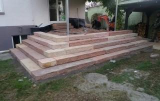 Treppenanlage Sandstein Modak