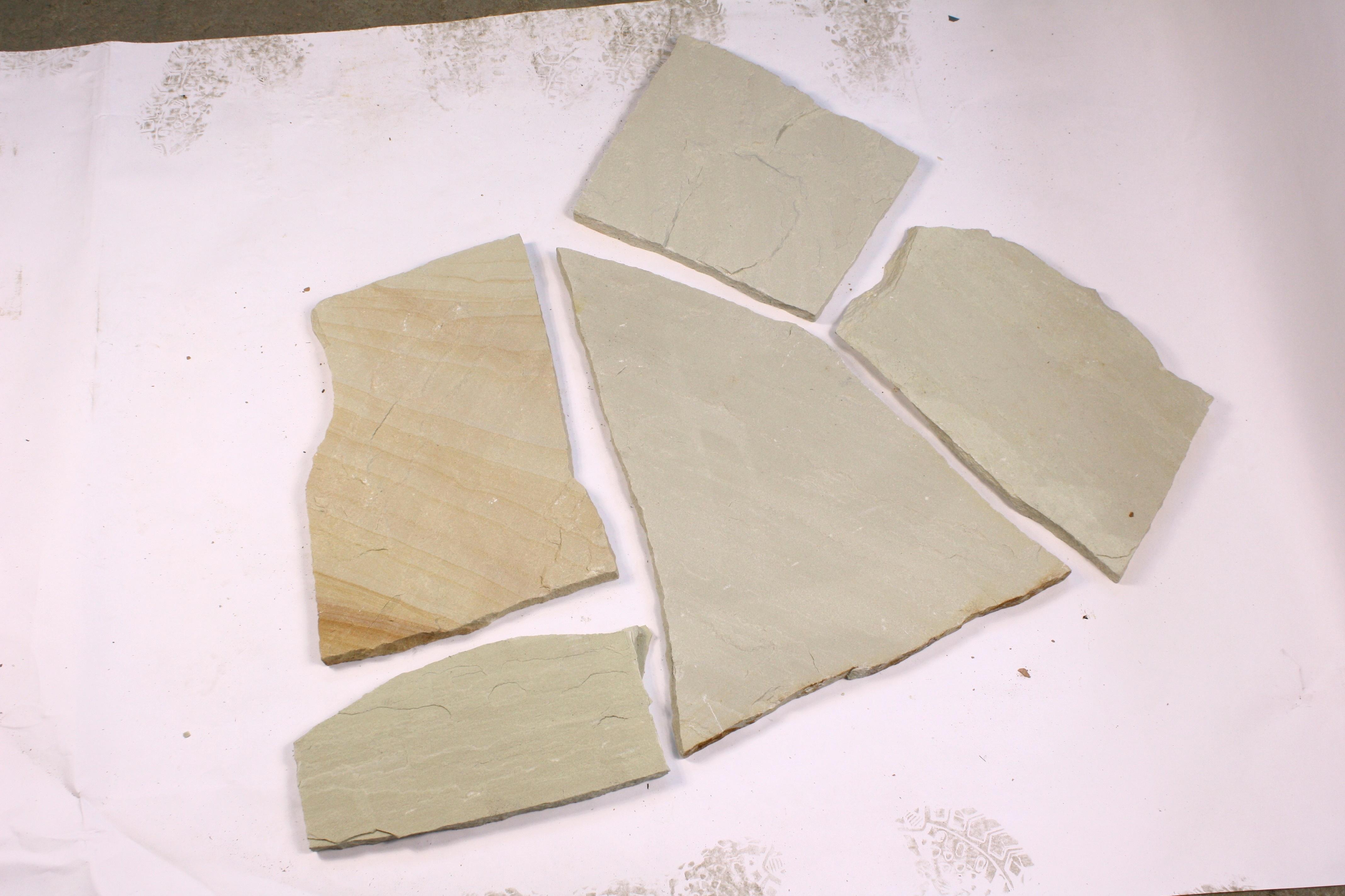 Günstig Sandstein Mint Polygonalplatten kaufen