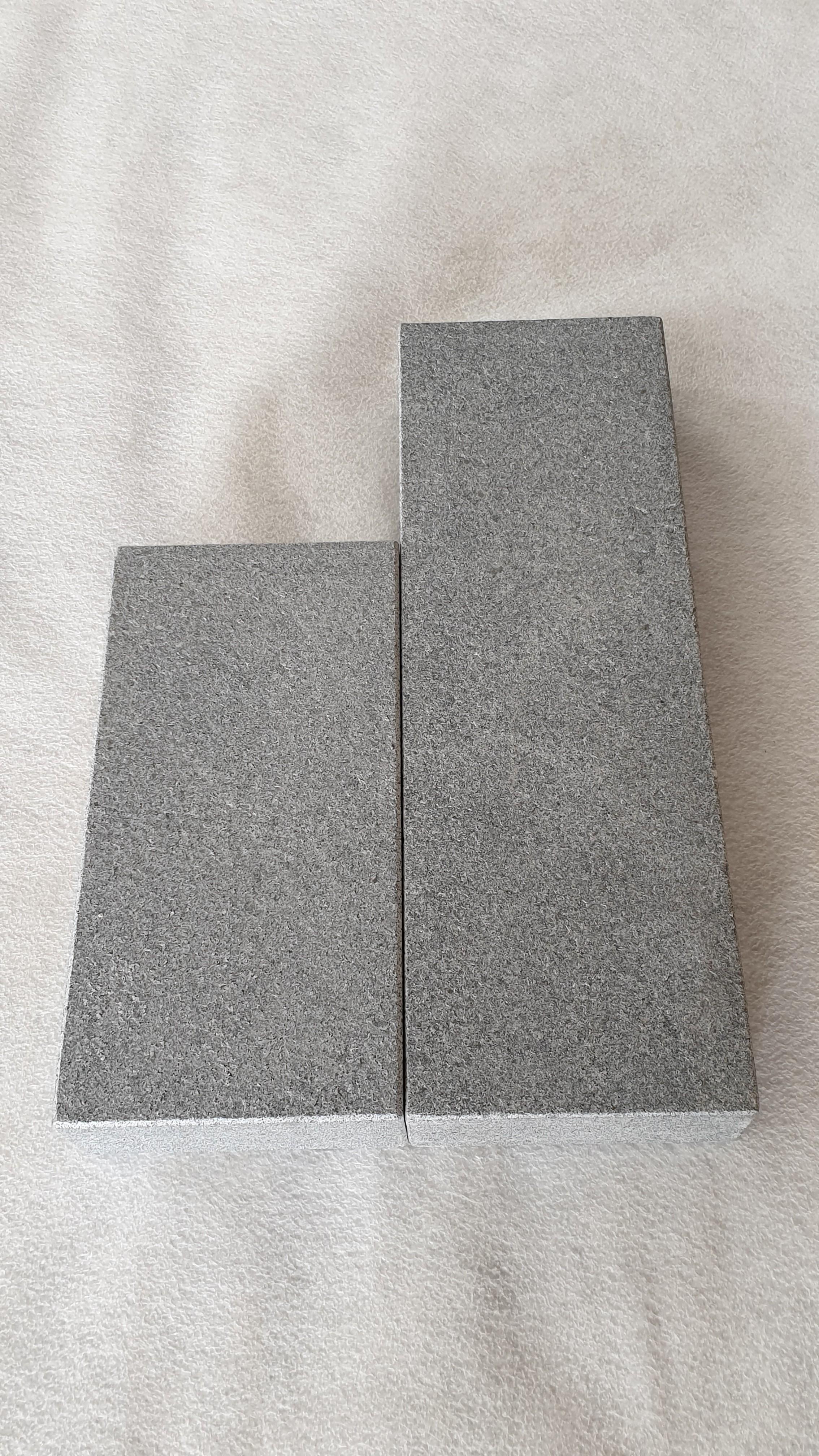 Palisade Granit Anthrazit günstig kaufen geflammt und gebürstet