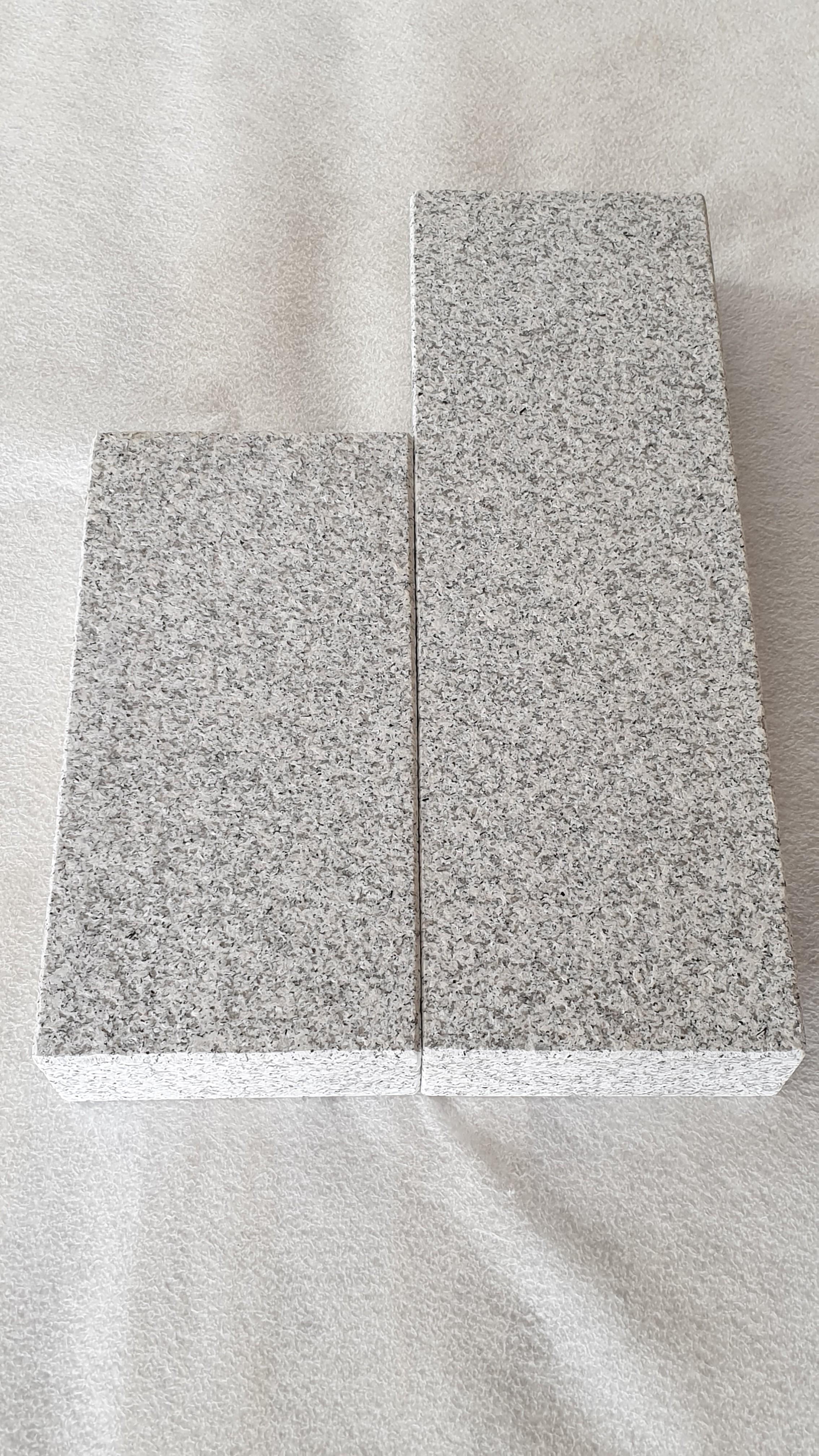 Palisaden Granit Grau geflammt und gebürstet